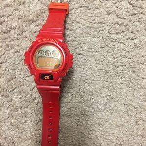 Casio G-Shock Red & Orange DW6900s watch for sale